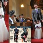 4-летняя парализованная девочка смогла проводить невесту к алтарю