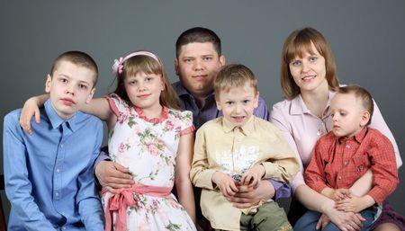 Мария Никольская с семьей