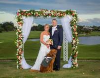 Ветеран-инвалид сделал свою служебную собаку шафером у себя на свадьбе