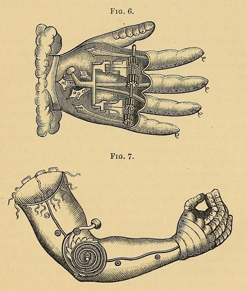 Источник:Wikimedia.org Прототип бионической руки, созданный Амбруазом Паре