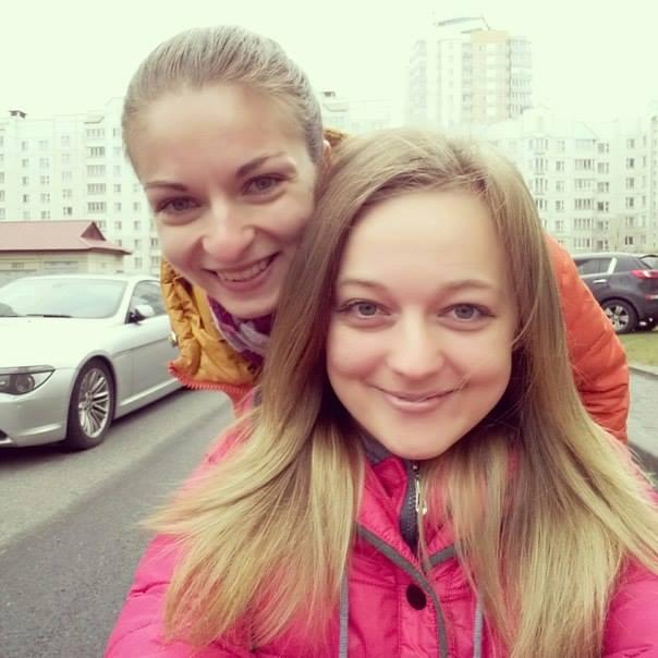 Инна Пунтус и ее подруга Катя