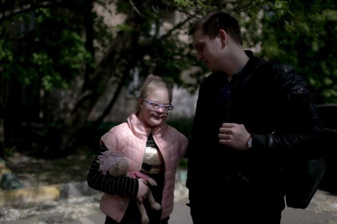 Фото: Анна Иванцова для ТД Во время прогулки Аполлинария встретила своего учителя английского языка