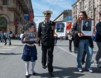 «Бессмертный полк»: ветераны с портретами ветеранов»