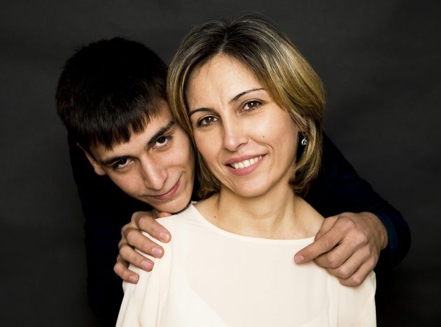 С сыном Русланом