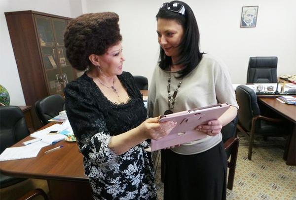 В Совете Федерации с Валентиной Александровной Петренко. Фото из личного архива