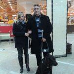 Незрячая пара с собакой-поводырём «проинспектировала» рестораны Екатеринбурга