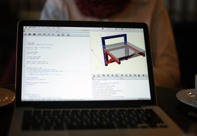 3D-модель радиоуправляемого стола с варочной поверхностью