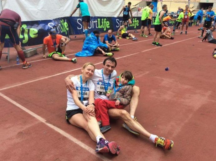 Финиш марафона в Севилье