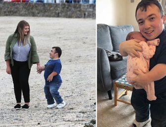 Самый маленький папа в мире: У британского актёра родилась дочь в половину его собственного роста