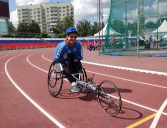 Сергей Махов из Нижегородской области занял третье место в гонках на спортивных колясках на трассе «Формулы-1» в Сочи